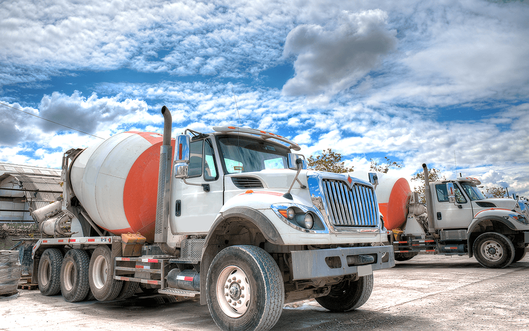 Concrete truck on worksite   Wiers
