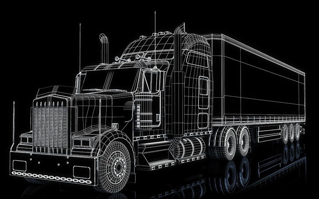 Digital outline of semi-truck   Wiers