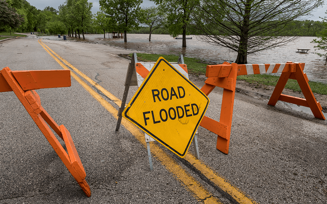 closed flooded road   Truck storm safety   Wiers Fleet partners