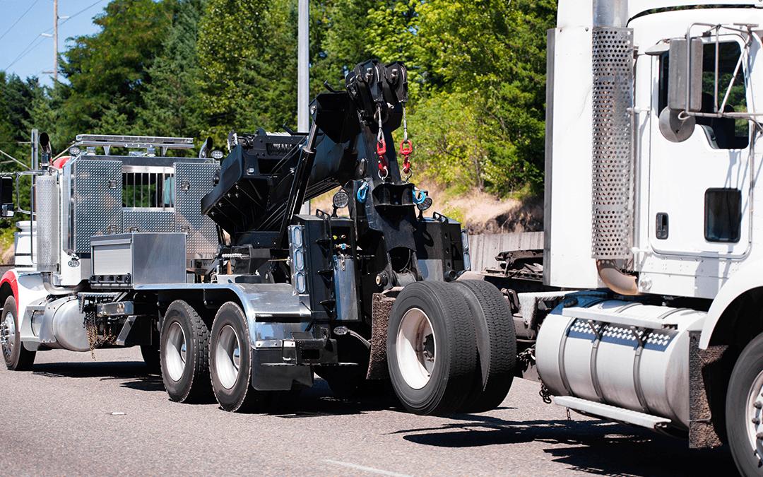 Towing a heavy duty truck | Wiers Fleet Partners